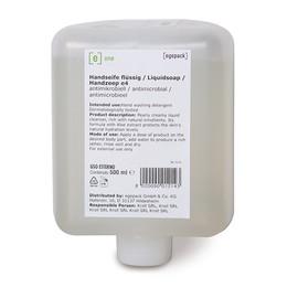 Cremeseife e4 antimikrobiell 500ml / e one (KARTON = 12 FLASCHEN Á 500 MILLILITER) Produktbild