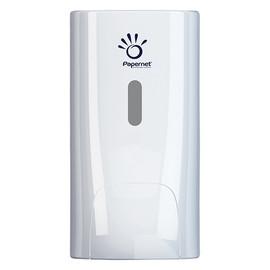 Schaumseifenspender antibakteriell mit Druckknopf 500ml / weiß / Kunststoff / 139x116x220mm / Papernet Produktbild