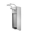 Desinfektionsmittel- & Seifenspender mit kurzem Armhebel 500ml / silber /Aluminium / Temdex SD 0501 Produktbild
