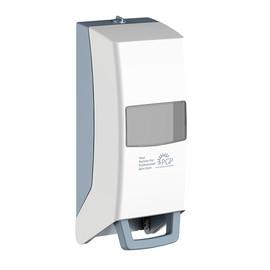 Variomat Spender ECO mit Drucktaste 1000-2000ml / weiß / Kunststoff / 126x130x351mm Produktbild