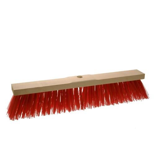 Straßenbesen ohne Gewinde / 60cm / rot / Elaston / Sattelholz Produktbild Front View L