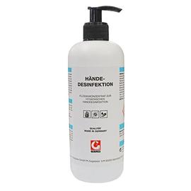 Händedesinfektionsmittel 500 ml mit Dosierpumpe schwarz (FL=500 MILLILITER) Produktbild
