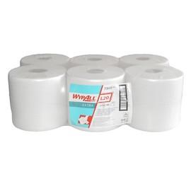 Wischtuch Wypall L20 Extra Airflex* 2-lagig / weiß / 18,5x42,5cm / 300 Abrisse / Kimberly Clark 7303 (PACK=6 ROLLEN) Produktbild