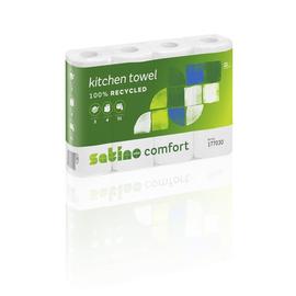 Küchenrollen 3-lagig / hochweiß / 51 Blatt / Recycling / Satino Comfort (PACK=4 ROLLEN) Produktbild