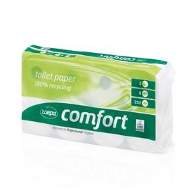 Toilettenpapier Recycling 250 Blatt 2-lagig hochweiß Wepa Comfort (PACK=8 ROLLEN) Produktbild