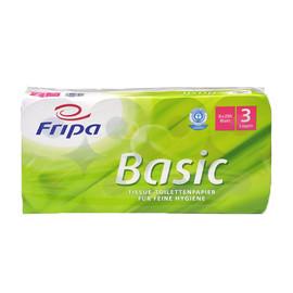 Toilettenpapier 3-lagig / 250 Blatt / Recycling / weiß / Fripa Basic (PACK=48 ROLLEN) Produktbild