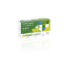 Toilettenpapier 3-lagig / 250 Blatt / Recycling / hochweiß / Satino Comfort (PACK=8 ROLLEN) Produktbild