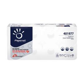 Toilettenpapier 3-lagig / 250 Blatt /  Zellstoff / extra stark / hochweiß / Papernet (PACK=72 ROLLEN) Produktbild