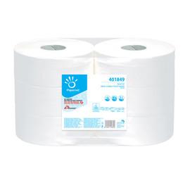 Toilettenpapier Jumbo Rollen 2-lagig / 9cm 360m/ Ø26,2cm /  Zellstoff / hochweiß / Papernet (PACK=6 ROLLEN) Produktbild