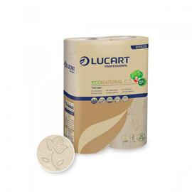 Toilettenpapier 3-lagig / 250 Blatt / Fiberpack / havanna / Lucart ECONATURAL 6.3 (PACK=30 ROLLEN) Produktbild