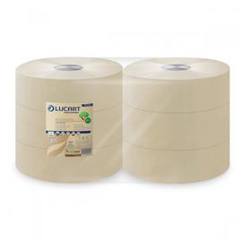 Toilettenpapier Jumbo Rollen 2-lagig / 8,9cm 350m / Ø26cm / Fiberpack / havanna / Lucart EcoNatural 350 (PACK=6 ROLLEN) Produktbild