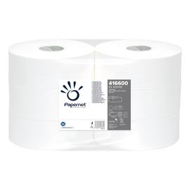 Toilettenpapier Jumbo Rollen 1-lagig / 9cm 470m / Ø25,5cm / Recycling / natur / Papernet (PACK=6 ROLLEN) Produktbild
