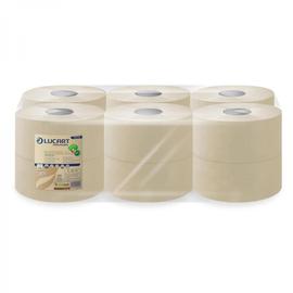 Toilettenpapier Jumbo Rollen 2-lagig / 8,9cm 180m / Ø19cm / Fiberpack / havanna / Lucart EcoNatural 180 (PACK=12 ROLLEN) Produktbild