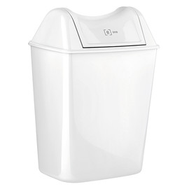 Abfallbehälter Mini e12 weiß 8l 240x170x280mm ohne Deckel Produktbild