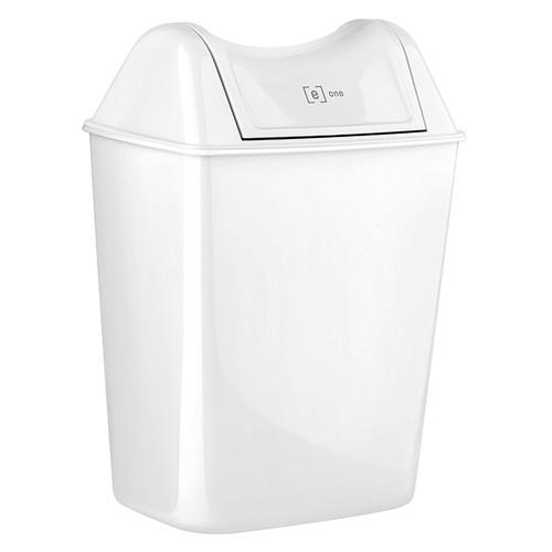Abfallbehälter Mini e12 8 Liter / weiß / Kunststoff / 240x170x280mm / ohne Deckel e one Produktbild Front View L
