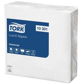 Servietten Kleinpackung 1/4 Falz / 33x33cm / 1-lagig / weiß / Tork 10301 (PACK=100 STÜCK) Produktbild