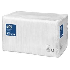Servietten Großpackung 1/4 Falz / 33x33cm / 1-lagig / weiß (PACK=500 STÜCK) Produktbild