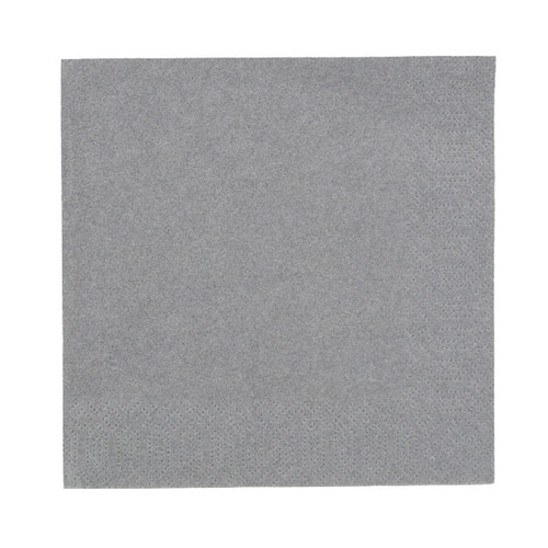 Servietten Zelltuch 1/4 Falz / 33x33cm / 3-lagig / granite grey / Duni (PACK=250 STÜCK) Produktbild Additional View 1 L