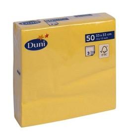 Servietten 1/4 Falz 33x33cm 3-lagig gelb Duni Produktbild