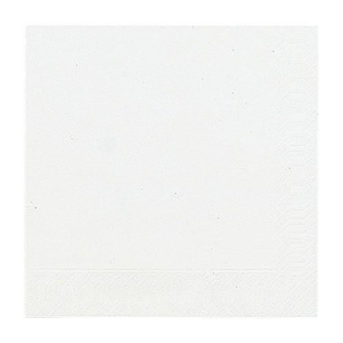 Servietten 1/4 Falz 33x33cm 3-lagig weiß Duni 154489 Produktbild Front View L