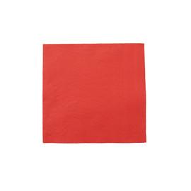 Servietten Tissue Basics 1/4 Falz 33x33cm 3-lagig rot (PACK=100 STÜCK) Produktbild