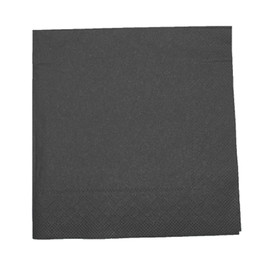 Servietten Tissue Basic 1/4 Falz / 40x40cm / 3-lagig / schwarz (PACK=100 STÜCK) Produktbild