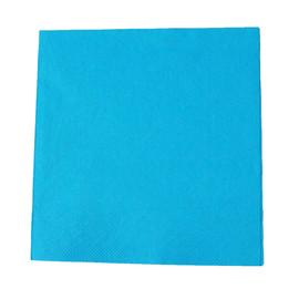 Servietten Tissue Basic 1/4 Falz / 40x40cm / 3-lagig /  aqua blau (PACK=100 STÜCK) Produktbild