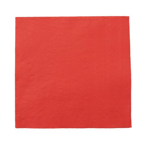 Servietten Tissue Basic 1/4 Falz / 40x40cm / 3-lagig / rot (PACK=100 STÜCK) Produktbild