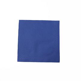 Servietten Tissue Deluxe Basic 1/4 Falz / 40x40cm / 4-lagig / blau (PACK=50 STÜCK) Produktbild