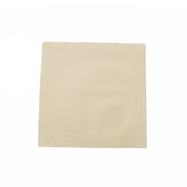 Servietten Tissue Deluxe Basic 1/4 Falz / 40x40cm / 4-lagig / creme (PACK=50 STÜCK) Produktbild
