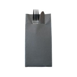 Besteckserviettentaschen Tissue Deluxe 1/8 Falz / 40x40cm / 4-lagig / grau (PACK=75 STÜCK) Produktbild