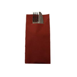 Besteckserviettentaschen Tissue Deluxe 1/8 Falz / 40x40cm / 4-lagig / bordeaux (PACK=75 STÜCK) Produktbild