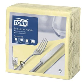 Servietten Soft 1/4 Falz / 39x39cm / 3-lagig / champagner / Tork 477588 (PACK=100 STÜCK) Produktbild