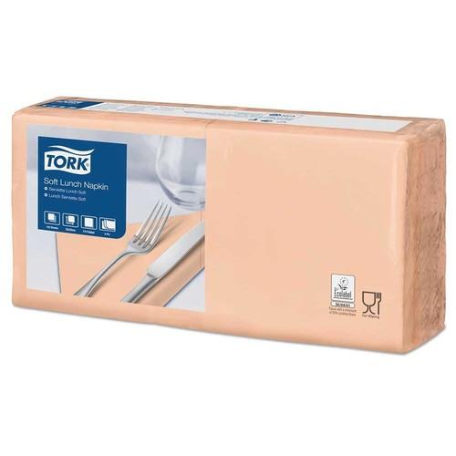 Servietten Soft 1/4 Falz / 33x33cm / 3-lagig / apricot / Tork 477863 (PACK=150 STÜCK) Produktbild