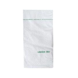 Servietten Fiberpack 1/8 Falz / 33x33cm / 2-lagig / Druck Logisch Öko (KTN=2700 STÜCK) Produktbild