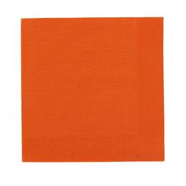 Servietten Klassik Zelltuch 1/4 Falz 40x40cm / 4-lagig / mandarin / Duni (PACK=50 STÜCK) Produktbild