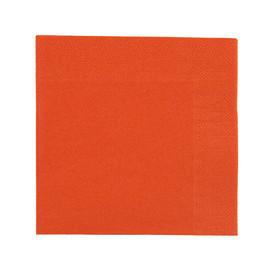 Servietten Zelltuch 1/4 Falz / 24x24cm / 3-lagig / mandarin / Duni (PACK=250 STÜCK) Produktbild
