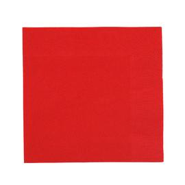 Servietten Zelltuch 1/4 Falz / 24x24cm / 3-lagig / rot / Duni (PACK=250 STÜCK) Produktbild