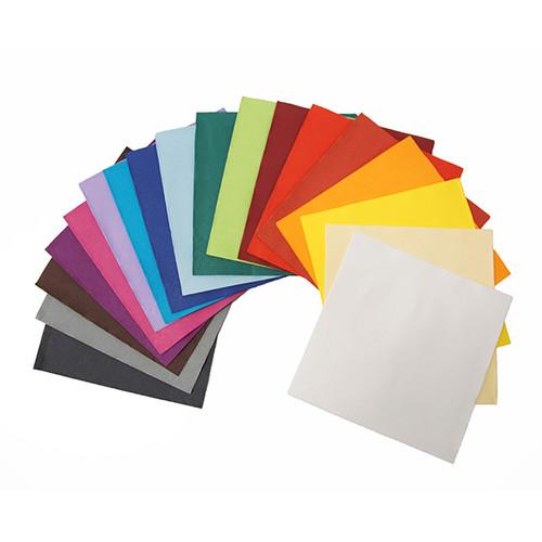 Servietten Tissue Deluxe Basic 1/4 Falz / 40x40cm / 4-lagig / grau (PACK=50 STÜCK) Produktbild Additional View 1 L