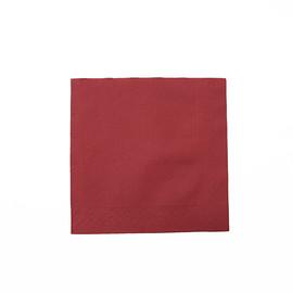 Servietten Tissue Deluxe Basic 1/4 Falz / 40x40cm / 4-lagig / bordeaux (PACK=50 STÜCK) Produktbild