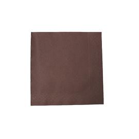 Servietten Tissue Deluxe Basic 1/4 Falz / 40x40cm / 4-lagig / braun (PACK=50 STÜCK) Produktbild