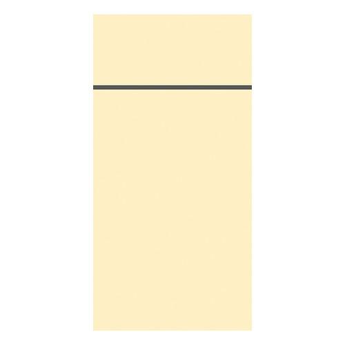 Besteckserviettentaschen Duniletto Slim 40x33cm / cream / Duni (PACK=65 STÜCK) Produktbild Front View L