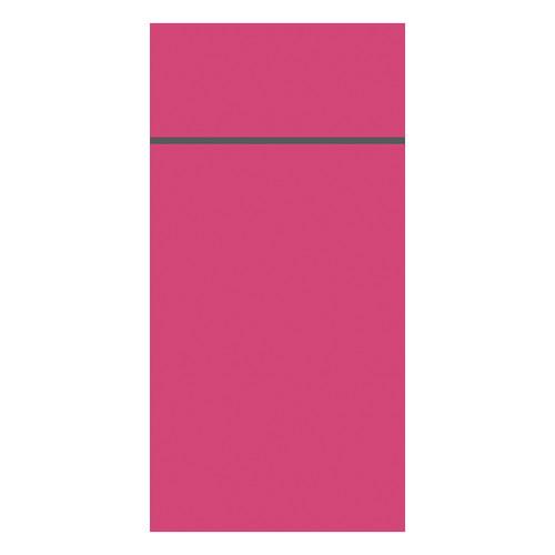 Besteckserviettentaschen Duniletto Slim 40x33cm / fuchsia / Duni (PACK=65 STÜCK) Produktbild Front View L