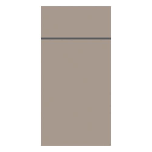 Besteckserviettentaschen Duniletto Slim 40x33cm / greige / Duni (PACK=65 STÜCK) Produktbild Front View L