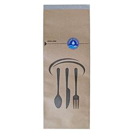 Besteckbeutel / braun 70g / 10x26cm / 100% Recyclingpapier / FSC (KTN=2000 STÜCK) Produktbild