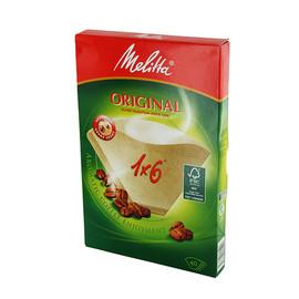 Kaffee-Filtertüten braun Melitta 1x6 (PACK=40 STÜCK) Produktbild