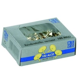 Reißnägel ø 9mm doppelt vernietet vermessingt ALCO 110 (SCH=100 STÜCK) Produktbild