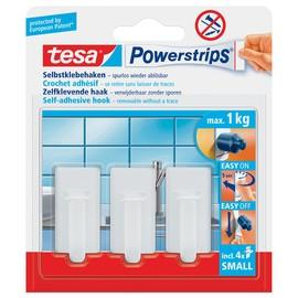 Powerstrips Haken Small Classic bis 1kg Haftkraft weiß Tesa 57530-00013-01 (PACK=3 STÜCK) Produktbild