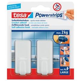 Powerstrips Haken Large Classic bis 2kg Haftkraft weiß Tesa 58010-00044-01 (PACK=2 STÜCK) Produktbild