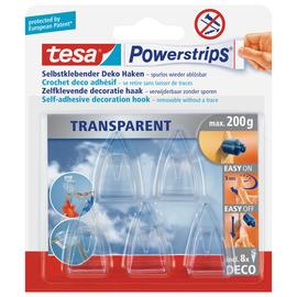 Powerstrips Deco-Haken bis 200g Haftkraft kristallklar Tesa 58900-00013-03 (PACK=5 STÜCK) Produktbild
